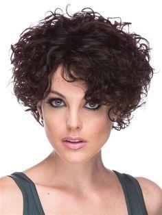 H Cascade Wig By Elegante Stylish Curls Pelo Rizado Corto Cabello Risado Corto Pelo Ondulado Corto