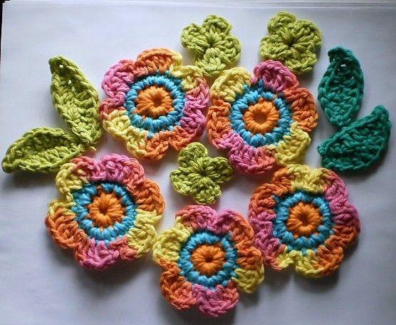 Crow Haven Cottage: Free Crochet Flower & Leaf Motif Patterns