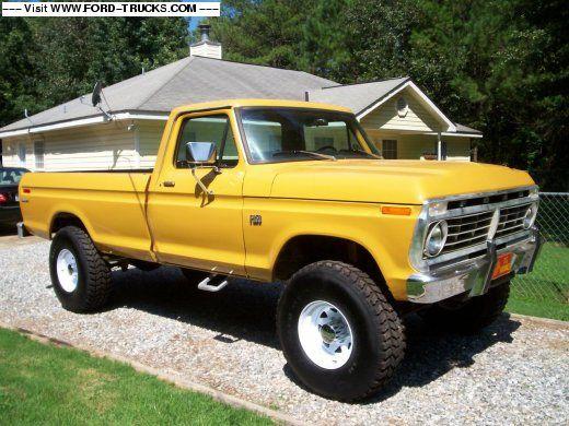 1975 F250 Yellow Truck 4+4 Hi-boy. I really like the yellow!