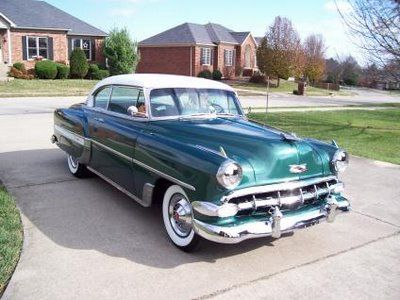 1954 Chevy Bel Air 2d Coupe, Dad gave it to me as my first car.  Mom and Dad 2nd car with the 60 Impala Convert