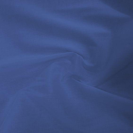 Tecido Tricoline elastano lisa Azul Royal 97% algodão / 3% elastano Larg.147