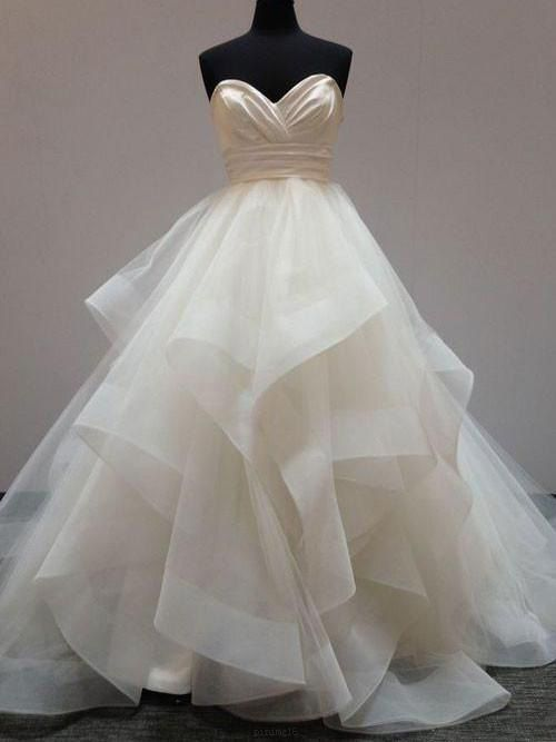 Wedding Dresses Ball Gown Long Wedding Dresses Ball Gown Wedding Dresses White Wedding Dress Prom Dresses Sleeveless Wedding Dress Organza Wite Prom Dresses
