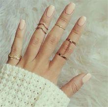 2016 nova moda 6 pçs/set único ouro de empilhamento Midi dedo Knuckle anéis bonito folha Set para mulheres frete grátis(China (Mainland))