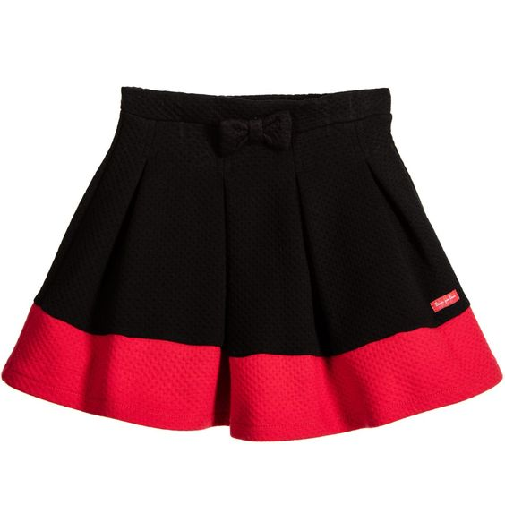 Deux Par Deux Girls Black & Red Skirt at Childrensalon.com