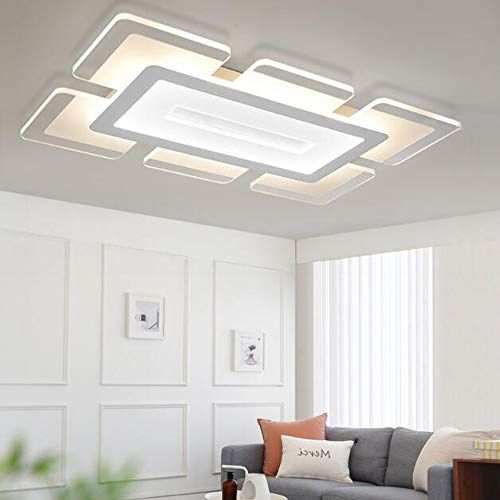 Litfad Rectangular Led Flush Light Minimalist Acrylic Ult Https Www Amazon Com Dp B07s9qnffp Ref Cm Sw R Pi Flush Ceiling Lights Dinning Room Ceiling Lamp