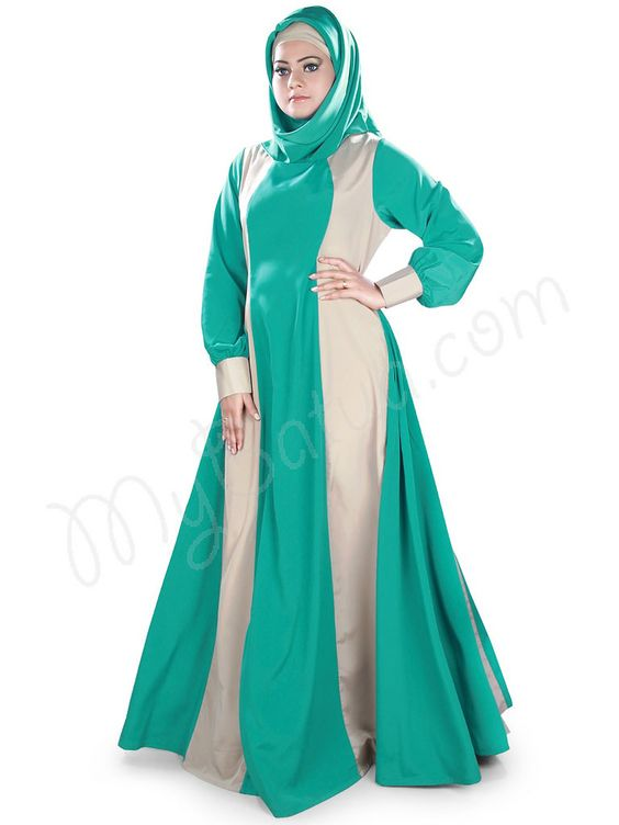 https://flic.kr/p/y5MCsK | Uniquely Designed with Panels All Round Party Wear Karimah Abaya | MyBatua.com | Style No : AY-392 Price : $34.50 Available Sizes XS to 7XL