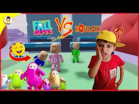 لعبنا العبة الاسطورية فل غايز على روبلوكس Roblox Fall Guys Game Youtube Mario Characters Character Roblox