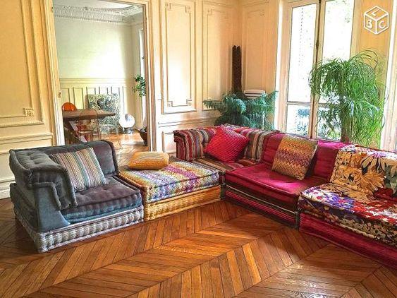 Canape Mah Jong Roche Bobois Tissu Missoni Ameublement Paris Leboncoin Fr Mobilier De Salon Idee Deco Maison Idee Salon