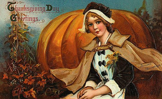 Vintage Thanksgiving Postcard by Suzee Que, via Flickr