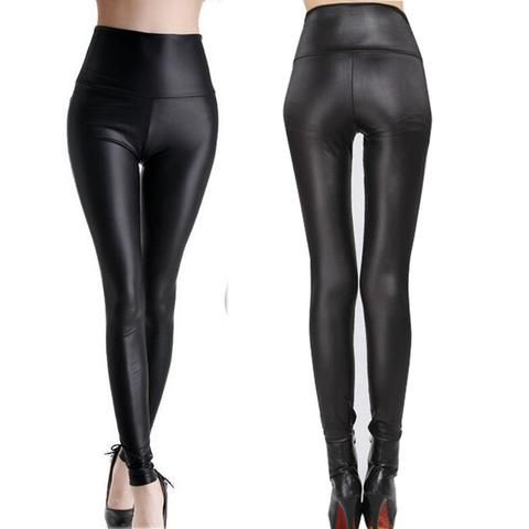 S 5xl Women Faux Leather Leggings Winter Keep Warm High Waist Jegging Ankle Length Large Size Plus Femal Leather Leggings High Waist Jeggings Slimming Leggings