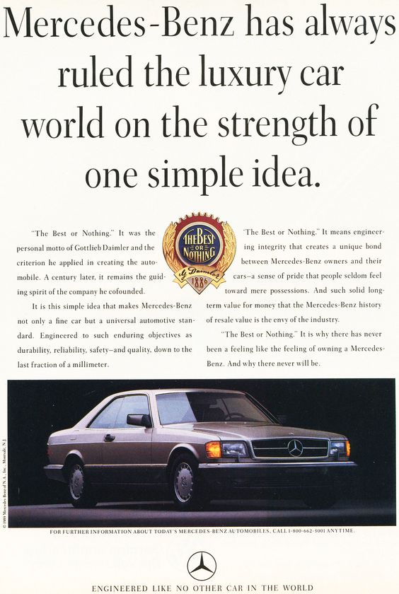 images of 70s mercedes car ads | 1986 rolls royce corniche ad a 1990 mercedes s class ad