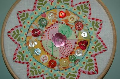 Scrappy Button Mandela by Jo Avery