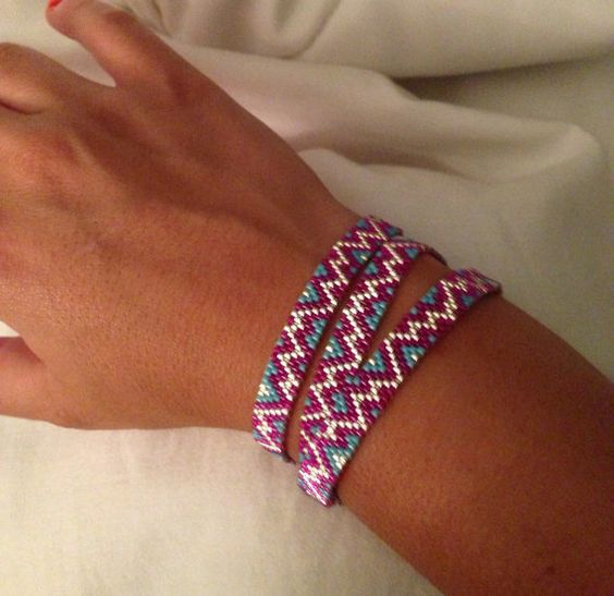 Chevron Wrap Bracelet by ClaireElizabethB on Etsy