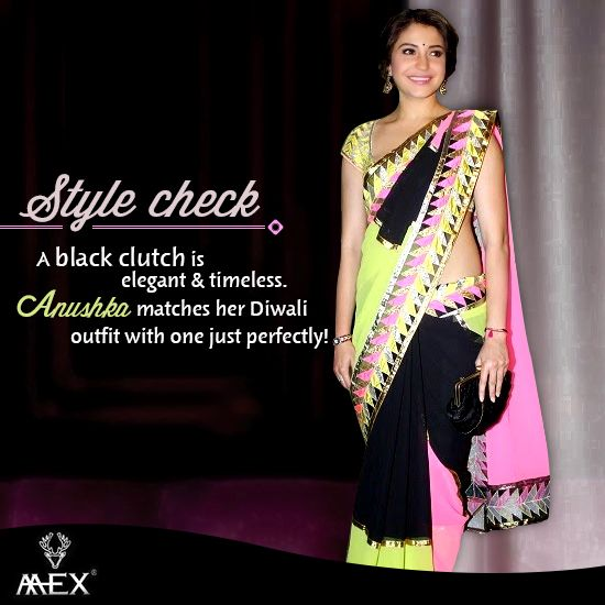Want a perfect look this Diwali? Here is our #Stylecheck Anushka donning a perfect look at a #Diwali party.  Check out!  http://www.mexlifestyle.com/ #FestiveSeason #MexLifeStyle