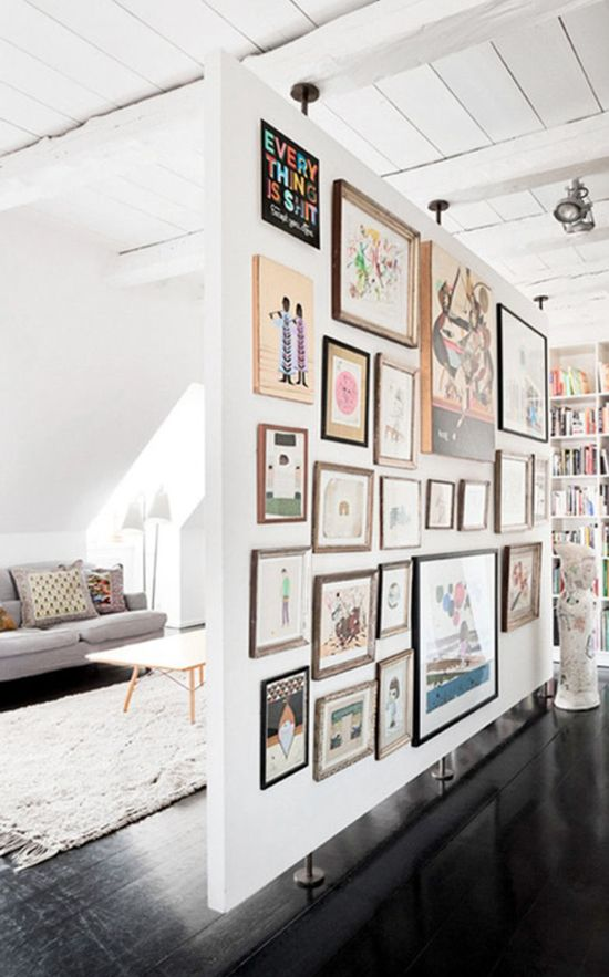 I love this so much! Living room with art.