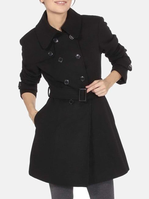 Zeagoo Womens Long Sleeveless Trench Coat Double Breasted Vest Blazer Jacket with Belt S-XXL