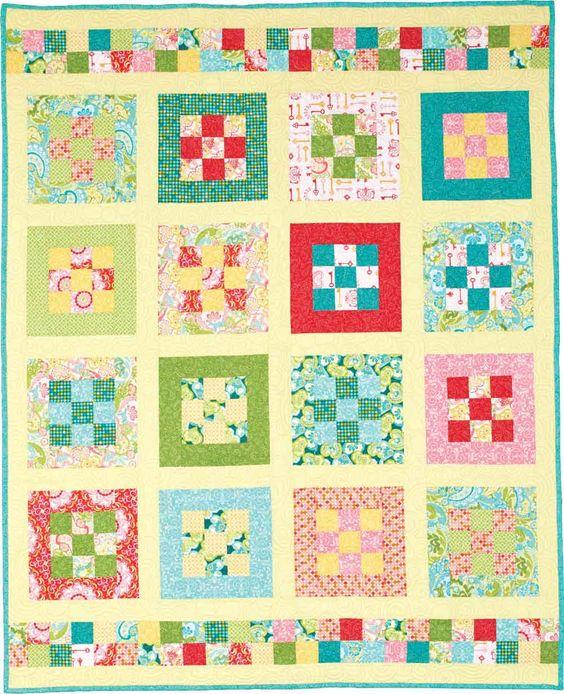 Nine Patch Park - Throw Quilt Patterns