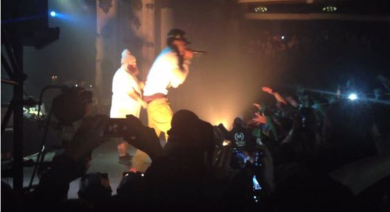 """Video: Action Bronson Brings Out Chance The Rapper Live in Chicago #Getmybuzzup- http://getmybuzzup.com/wp-content/uploads/2014/01/action-bronson-chance-the-rapper.jpg- http://getmybuzzup.com/video-action-bronson-brings-chance-rapper-live-chicago-getmybuzzup/- Action Bronson Brings Out Chance The Rapper Live in Chicago While performing at The Metroin the city of Chicago Action Bronson brings out Chance The Rapper duringthe """"Blue Chips 2″ tour. They perform their son"""