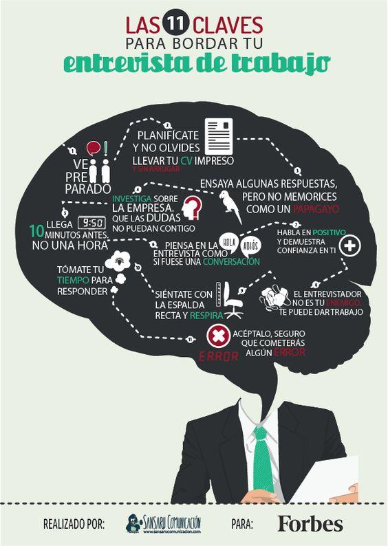 11 claves para bordar una entrevista de trabajo #infografia: