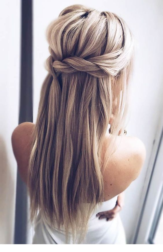 Nice Back Hairstyle Idea Long Hair Styles Braided Hairstyles For Wedding Long Straight Hair