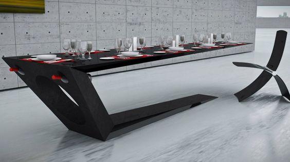 Monolito and Megalito Carbon Fiber Table