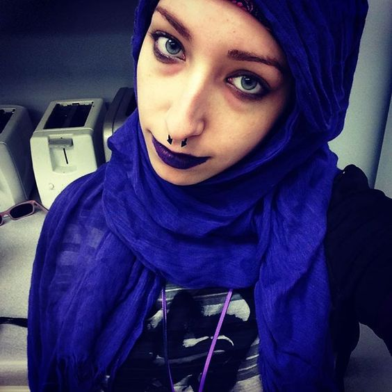 Tried a new hijab style with my new lipstick. Links to my Instagram!