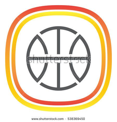 Basketball sign line vector icon. Sport competition sign line icon.