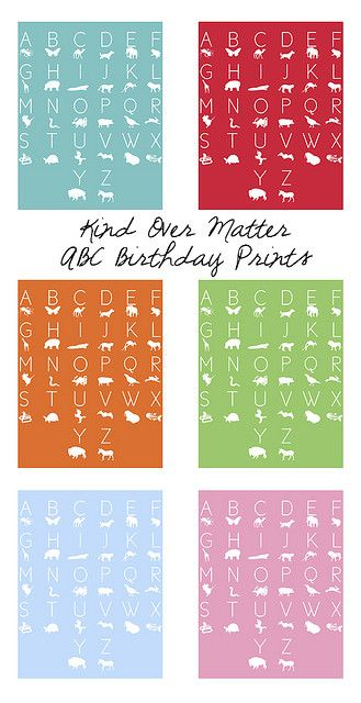 Freebie Alert : Kind Over Matter ABC Birthday Prints! by Amanda Oaks, via Flickr