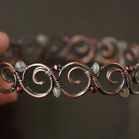 This is a great design for me to use because I had some wire design parially made but didn't know what to do with it but it's similar to a link like in this piece    Spirals bracelet