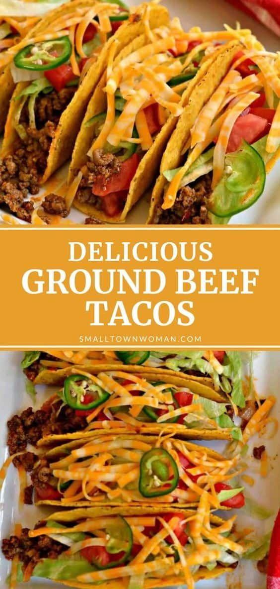 Ground Beef Tacos Recipe In 2020 Soft Taco Recipe Ground Beef Beef Tacos Recipes Ground Beef