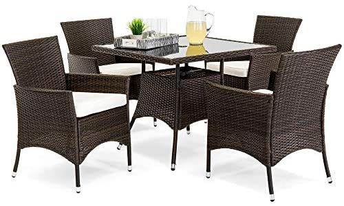 Amazon Com Best Choice Products 5 Piece Indoor Outdoor Wicker