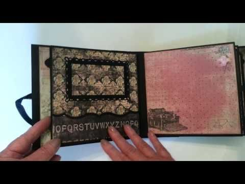 Romance Novel 6 x 6 mini album - YouTube