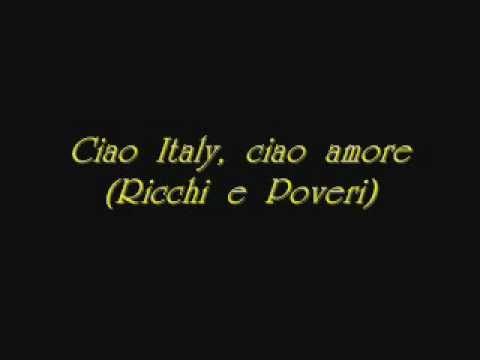 Ciao Italy Ciao Amore Wmv Youtube Nel 2020 Ciao Youtube Amore