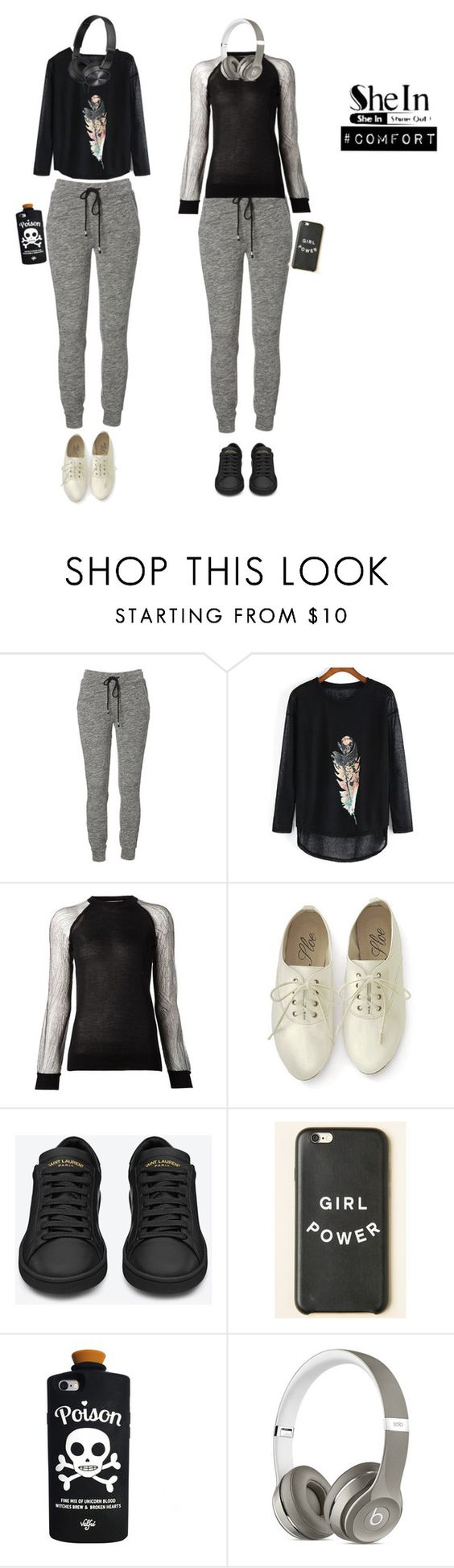 """Shein contest"" by ilovedemi4ever ❤ liked on Polyvore featuring Jason Wu, Yves Saint Laurent, Valfré, Beats by Dr. Dre and Sony"