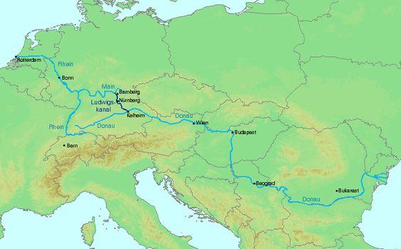 Europa Ludwigskanal Rhein Main Donau