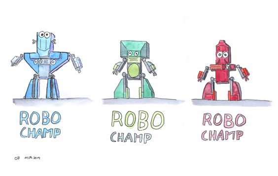 Doodle Break: Robo Champs - Doodleing with the kids.