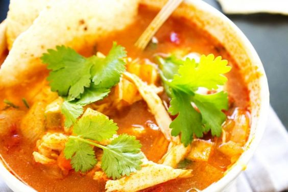 SLOW COOKER AUTHENTIC TORTILLA SOUP