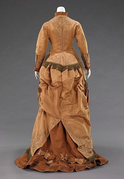 Afternoon dress (image 3) | American | 1874 | silk |  Brooklyn Museum Costume Collection at The Metropolitan Museum of Art | Accession Number: 2009.300.777a–c