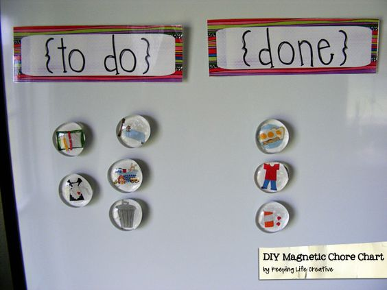 Another magnetic chore chart.
