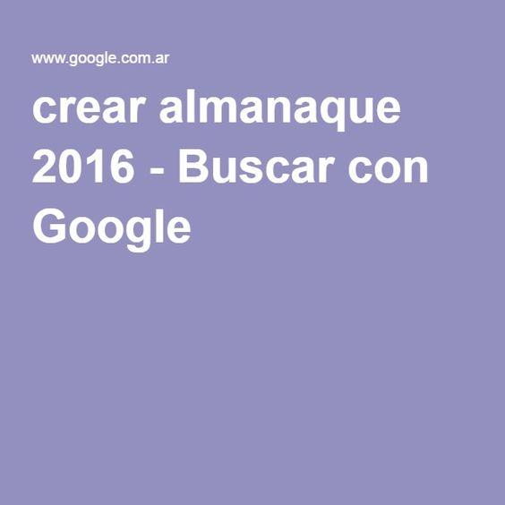 crear almanaque 2016 - Buscar con Google