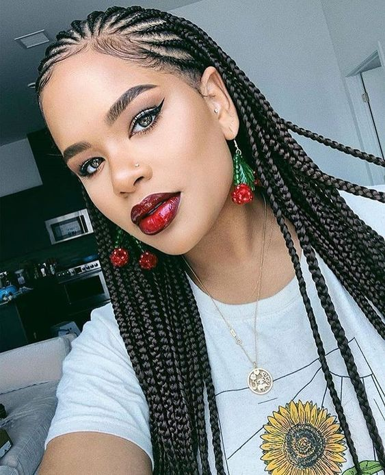 Cornrows Braided Hairstyles 2019 100 Best Black Braided Hairstyles You Should Try Correct Kid Braids For Black Hair African Braids Hairstyles Hair Styles