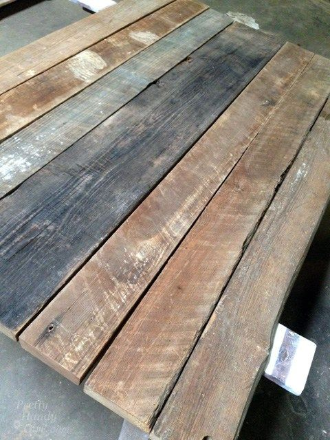 Rustic Wood Farmhouse Table Top From Reclaimed Lumber In 2020 Reclaimed Wood Table Reclaimed Wood Table Top Wood Table Top