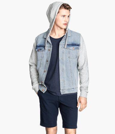 H&ampM Hooded Denim Jacket $49.95 | ian stuff | Pinterest | Products