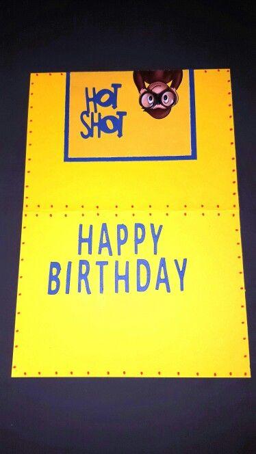 Curious George Birthday Card inside....DAAC