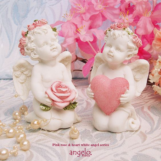 Image result for pink rose and angel