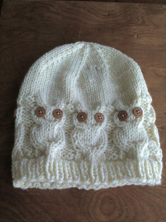 Knitting Patterns For Cute Hats : Owl Knit Hat - My knitting skills will need improvement ...