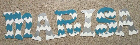 Chevron painted letters