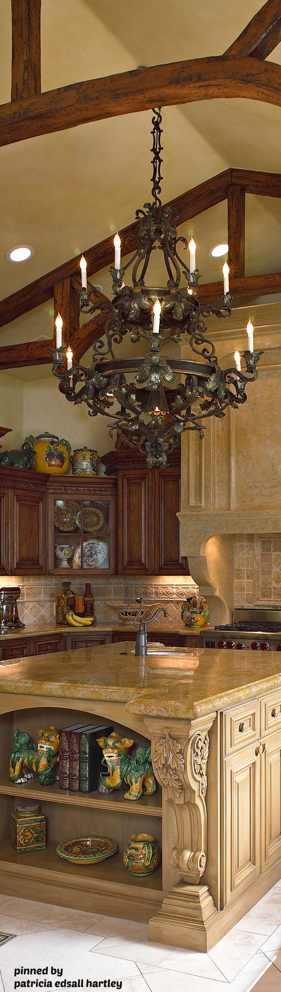 World and decor on pinterest Old world tuscan kitchen designs