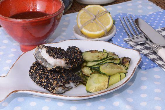 Filetes de gallineta en costra de sésamo http://www.canalcocina.es/receta/filetes-de-gallineta-en-costra-de-sesamo