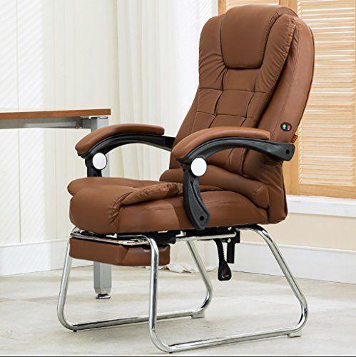 Computer Chair Home Office Chair Reclining Four Leg Chair Leather Art Massage Chair Pu Leather With Foot Arch Chair Colo Home Office Chairs Office Chair Chair